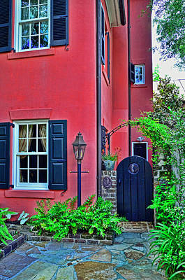 Photograph - Charleston Doors 4 by Allen Beatty