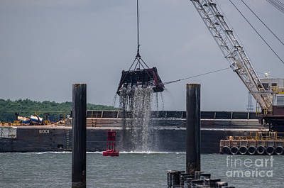 Photograph - Charleston Dredging by Dale Powell