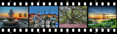 Photograph - Charleston Film Strip by Dale Powell