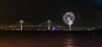 Photograph - Charleston Fireworks  by Donnie Whitaker