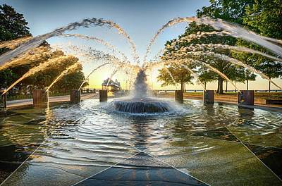 Photograph - Charleston Fountain At Sunrise by Anthony Doudt