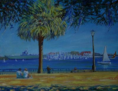 Painting - Charleston Harbor Sunday Regatta by Dorothy Allston Rogers