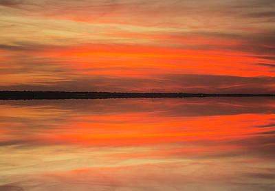 Photograph - Charleston Harbor Sunset 05 by Jim Dollar