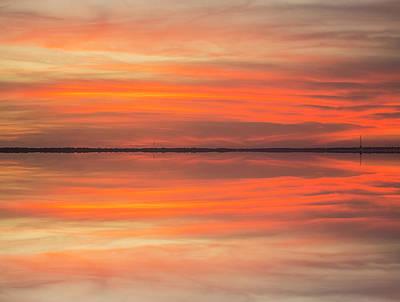 Photograph - Charleston Harbor Sunset 2017 11 by Jim Dollar