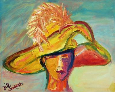 Painting - Charleston Hat Lady by Jill Tennison