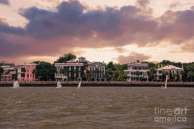 Photograph - Charleston High Battery Sailing by Dale Powell