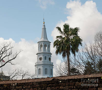 Photograph - Charleston Historic Church Bell Tower by Dale Powell