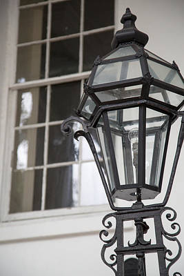 Country Photograph - Charleston Iron Light Post by J Darrell Hutto