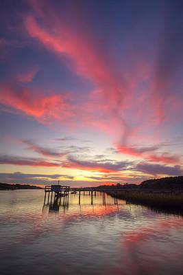 Charleston Lowcountry Sunset Art Print