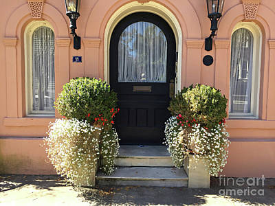 Photograph - Charleston Mills House Door Architecture - Charleston Windows And Doors  by Kathy Fornal