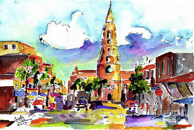 Charleston North Market Street Art Print