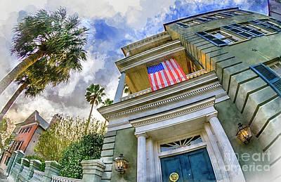 Digital Art - Charleston Patriot - Watercolor by David Smith