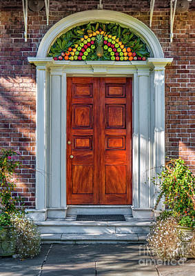 Photograph - Charleston Pineapple Entrance by Dale Powell