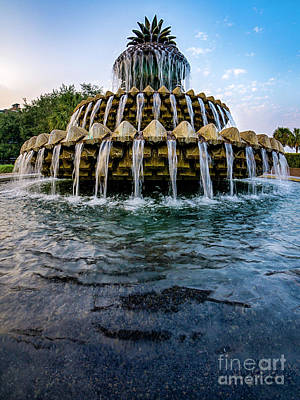 Photograph - Charleston Pineapple Fountain #2 by David Smith