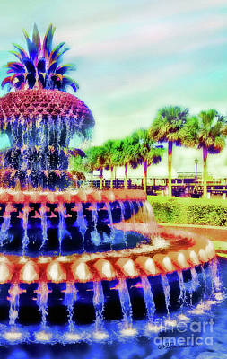 Photograph - Charleston Pineapple Fountain by Patricia L Davidson