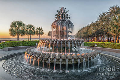 Photograph - Charleston Pinnapple Fountain In Historic Waterfront Park by Dale Powell