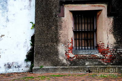 Photograph - Charleston Old Jail Window - Repentance by Jacqueline M Lewis