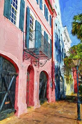Photograph - Charleston Rainbow Houses  by Carol Montoya