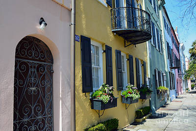 Photograph - Charleston Rainbow Row by Catherine Sherman