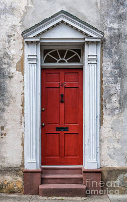 Photograph - Charleston Red Door Stateliness by Dale Powell