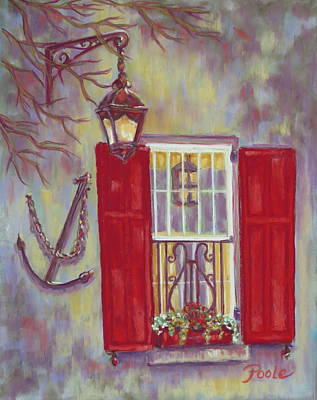 Painting - Charleston Red Shutters by Pamela Poole