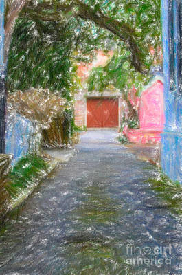 Digital Art - Charleston Sc Alley by Dale Powell
