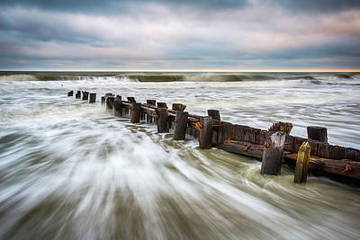 Weather Photograph - Charleston Sc Folly Beach - Push by Dave Allen