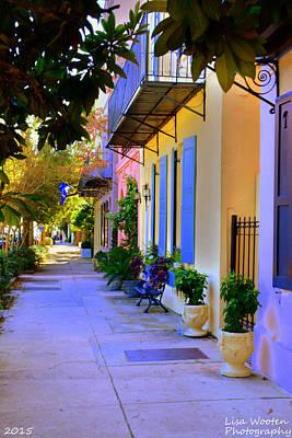Photograph - Charleston Sc Rainbow Row by Lisa Wooten
