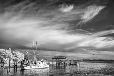 Charleston Shrimp Boat Art Print by Jon Glaser