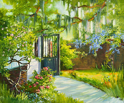 Grass Wall Art - Painting - Charleston Side Garden by Jane Woodward
