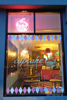 Charleston South Carolina Cupcake Downsouth Cafe - Charleston Cupcake Shop - Charleston Street Art Art Print by Kathy Fornal