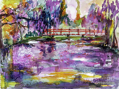 Painting - Charleston South Carolina Magnolia Gardens by Ginette Callaway