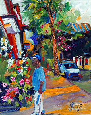 Painting - Charleston South Carolina Shopping by Ginette Callaway