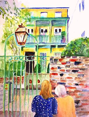 Painting - Charleston South Carolina Single House by CarlinArt Watercolor