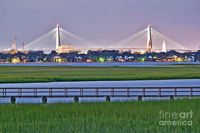 Dock Photograph - Charleston South Carolina Skyline by Dustin K Ryan