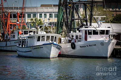 Photograph - Charleston Star Shrimp Boat Docked On Shem Creek by Dale Powell