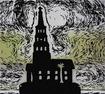 Photograph - Charleston Steeple Art by Dale Powell