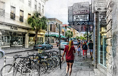Digital Art - Charleston Street Scene - Mixed Media by David Smith