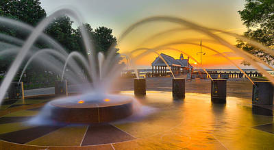 Photograph - Charleston Waterfront Park Pier And Fountain - Charleston Sc by Donnie Whitaker