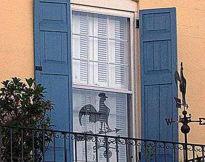 Charleston Weathervane Reflection Art Print