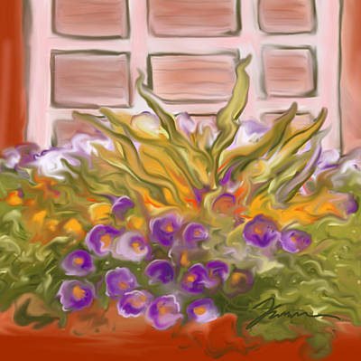 Digital Art - Charleston Window Box by Jean Pacheco Ravinski