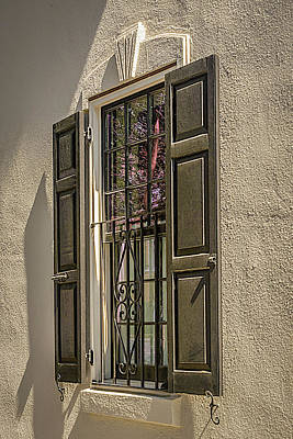 Photograph - Charleston Window Detail by Robert Mitchell