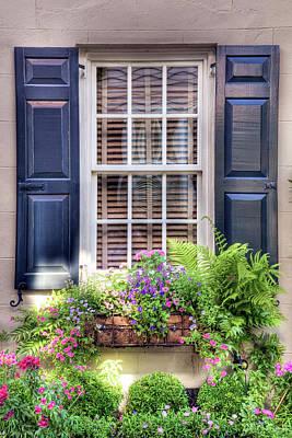 Charleston Window Garden  Art Print by Drew Castelhano