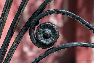 Photograph - Charleston Wrought Iron Gate Scrollwork by Melissa Bittinger