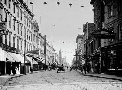 Photograph - Charleston's King Street 1900s by L O C