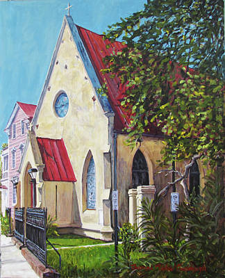 Painting - Charleston's St. John's Reformed Episcopal  by Thomas Michael Meddaugh