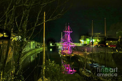 Photograph - Charlestown At Night by Terri Waters