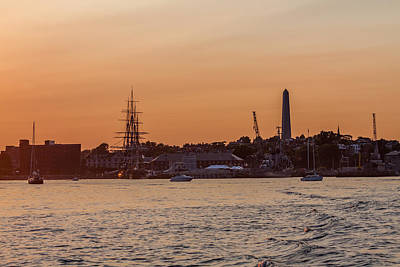 Photograph - Charlestown Navy Yard Sunset by Brian MacLean