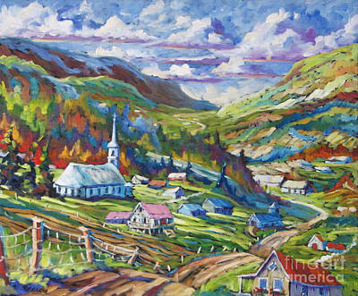 Country Church Painting - Charlevoix Inspiration by Richard T Pranke