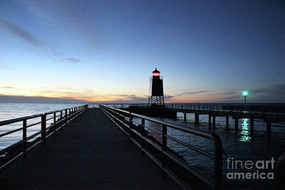 Photograph - Charlevoix Light Tower by Laura Kinker
